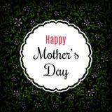 Счастливый дизайн плана Дня матери с рамкой, предпосылкой с цветками r бесплатная иллюстрация