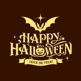 Счастливый дизайн силуэта сообщения хеллоуина бесплатная иллюстрация