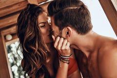 Счастливый для того чтобы находиться в влюбленности Стоковое Изображение RF