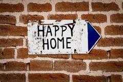 счастливый домашний указатель к Стоковая Фотография RF
