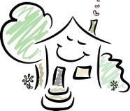 счастливый дом Стоковые Изображения