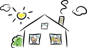 счастливый дом ii Стоковое Изображение