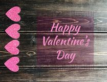 Счастливый знак дня Valentine's Стоковая Фотография RF