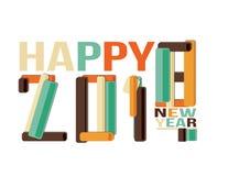 Счастливый знак Нового Года 2018 Стоковое Изображение