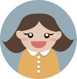Счастливый значок вектора девушки Стоковое фото RF