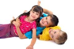 счастливый играть малышей Стоковое Фото