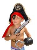 счастливый изолированный маленький пират Стоковые Изображения RF