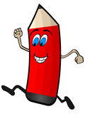 счастливый карандаш иллюстрация вектора