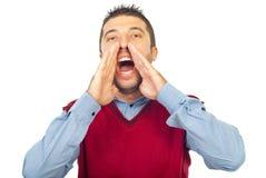 счастливый кричать человека Стоковые Изображения