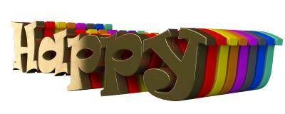 Счастливый к тексту 3d Стоковое Изображение RF