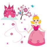 счастливый маленький princess иллюстрация штока