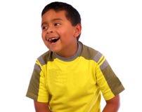 счастливый малыш над белизной Стоковое Изображение RF
