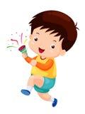 Счастливый мальчик, поздравления иллюстрация штока