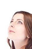 счастливый надеяться смотрящ вверх женщину Стоковая Фотография RF