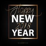 Счастливый Новый Год 2018 Вектор Нового Года плоский конструированный бесплатная иллюстрация