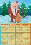 Счастливый Новый Год 2019 в деле! стоковое фото rf