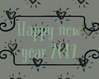 Счастливый Новый Год две тысячи и 19 иллюстрация штока