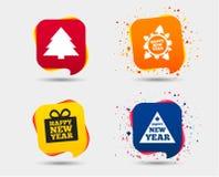 счастливый новый год знака красивейший вектор валов иллюстрации рождества Стоковое Фото