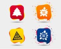 счастливый новый год знака красивейший вектор валов иллюстрации рождества Стоковая Фотография RF