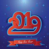 Счастливый Новый Год 2019 Иллюстрация вектора для holydays рождества иллюстрация штока
