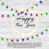 Счастливый Новый Год 2018 и с Рождеством Христовым предпосылка с влиянием bokeh 8 архива eps рождества предпосылки снежинок шикар Стоковые Фото