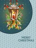 Счастливый Новый Год и с Рождеством Христовым предпосылка приветствию бесплатная иллюстрация