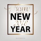 Счастливый Новый Год 2018 Конструированная квартира Нового Года иллюстрация штока