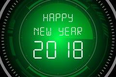 Счастливый Новый Год 2018 на экране радара Стоковое фото RF