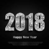 Счастливый Новый Год 2017 Предпосылка вектора Стоковые Фотографии RF