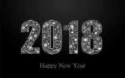 Счастливый Новый Год 2017 Предпосылка вектора Стоковое Изображение RF