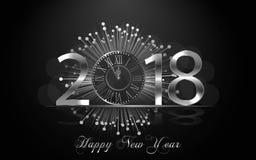 Счастливый Новый Год 2017 Предпосылка вектора Стоковые Изображения