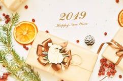 Счастливый Новый Год, 2019 Год свиньи стоковая фотография rf