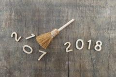 Счастливый Новый Год 2018, свободный от игры день 2017 Стоковая Фотография