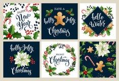 Счастливый Новый Год 2019 С Рождеством Христовым белые и черные collors Конструируйте для плаката, карточки, приглашения, плаката иллюстрация штока