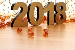 Счастливый Новый Год 2018 стоковое изображение rf