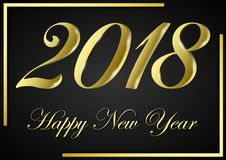 Счастливый Новый Год 2018 иллюстрация штока