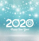 Счастливый Новый Год 2020 Стоковое Изображение RF