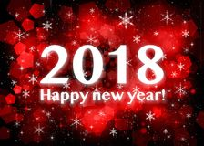 Счастливый Новый Год 2018 иллюстрация вектора