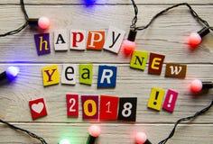 Счастливый Новый Год 2018 Стоковые Фотографии RF