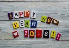 Счастливый Новый Год 2018 Стоковое Фото