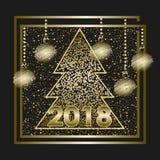 Счастливый Новый Год 2018_2 Стоковые Фотографии RF