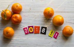 Счастливый Новый Год 2018 Стоковая Фотография RF