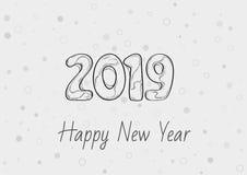 Счастливый Новый Год 2019 иллюстрация вектора