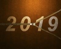 Счастливый Новый Год 2019 иллюстрация штока