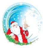 счастливый новый год santa иллюстрация вектора