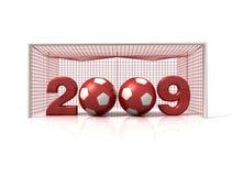 счастливый новый футбол иллюстрация штока