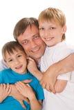 Счастливый папа с дет Стоковые Фотографии RF