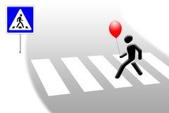 счастливый пешеход Стоковая Фотография
