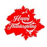 Счастливый плакат оформления благодарения Дизайн торжества для знамени, открытки, события, карточки, логотипа Осень стиля вектора иллюстрация вектора