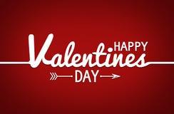 Счастливый плакат оформления дня валентинок с рукописным текстом каллиграфии иллюстрация штока